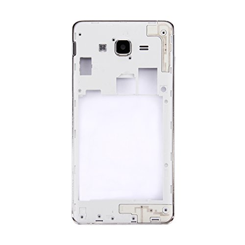 DASHOU Components Midriff Frame Bezel for Galaxy On7 / G6000 (Besteck) (Farbe : Silver)