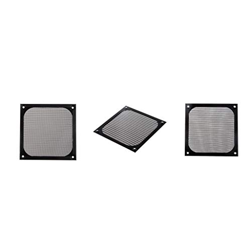 120mm Aluminium Lüfter Filter (KESOTO 3 Pcs Quadratisch Staubdicht Luftfilter Filter 120mm PC Case Lüfter Mesh Aluminium Lüfterstaubfilter)