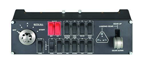 Logitech 945-000030 G Saitek Pro Flight Switch Panel, Schwarz (Saitek Panel Multi)