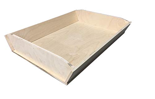 Euroshopping cassetta contenitore lievitazione impasto pizza napoletana contenitore in legno multistrato madia maddia con sponde asse legno 50x35x7 h