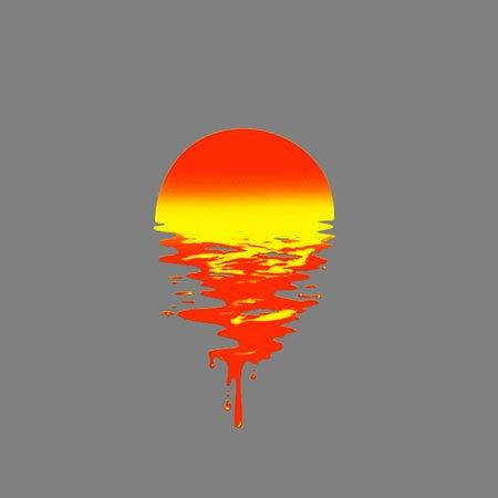 TEXLAB - Dripping Sun - Damen T-Shirt Asphalt