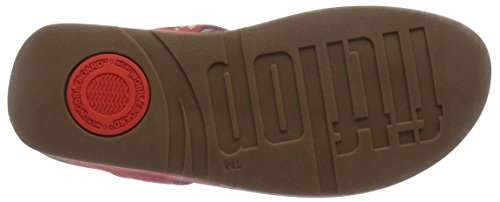 FitFlop - Carmel Toe-post, Sandali Donna Orange (Flame)
