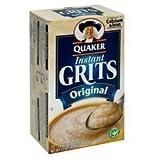 Quaker, Instant Grits, Original, 12 Count, 12oz Box (Pack of 3) by Quaker