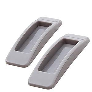 UPKOCH 2pcs Selbstklebend Möbelgriffe Türgriff Fenstergriffe Rechteckig Form Kühlschrank Stangengriff Schubladengriffe…