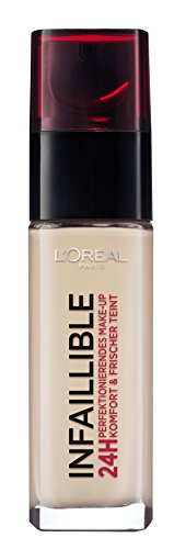 L'Oréal Paris Infaillible Make Up, 145 Rose Beige - Make Up 24 Stunden Halt - optimal deckend & ultra-resistent gegen Talg und Schweiß, 1er Pack (1 x 30 ml)