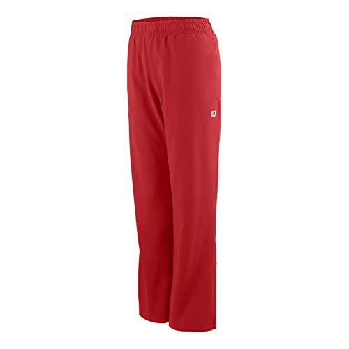 Wilson Jungen/Mädchen Trainingsjacke, Y Team Woven Warmup, Polyester, Rot/Weiß, Größe: S, WRA767504