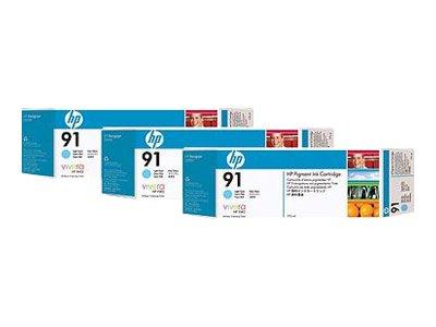 Hewlett Packard-HP 913-ink Multipack-C9486A-Druckerpatrone Kunstdruck-3x Light Cyan-für DesignJet Z6100, Z6100ps -