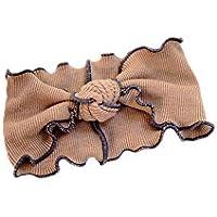 LUX Zubeh/ör Orange Rosa und Elfenbein Spitze Applikation Stretch Stirnband Pack 3