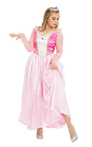 Disney Adult Fancy Dress Kostüm - Rosa Märchen Prinzessin Kleid Kostüm Karneval