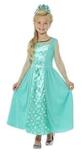 Smiffys Disfraz de Princesa del Hielo, Azul, con Vestido y Corona