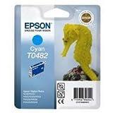 Epson T0482 Tintenpatrone Seepferd, Singlepack Cyan