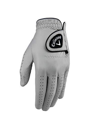 Callaway OptiColor Herren-Golfhandschuh aus Leder, Herren, Golf Gloves, grau, Cadet Medium -
