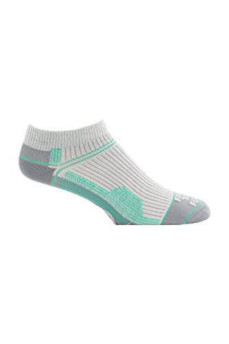Farm zu Füße Damen Roanoke Ultra Light Run Low Socks, Damen, Silver Heather, L