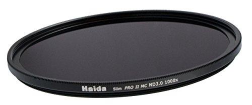 HAIDA Slim Graufilter PRO II MC (mehrschichtvergütet) ND1000x 72mm. Schlanke Fassung + Cap mit Innengriff