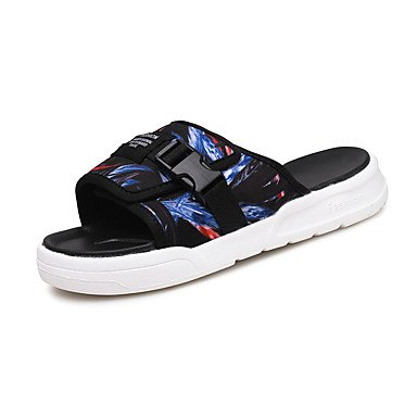 Slippers & amp da uomo;Estate Comfort PU casual arcobaleno nero / sandali bianchi sandali US7 / EU39 / UK6 / CN39