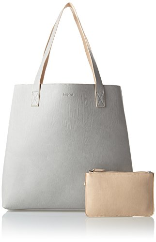Boscha Damen Shopper Bag Schultertasche, 12 x 37 x 38 cm Grau (Grey)