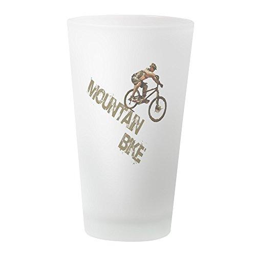 Atb-cross (CafePress–mntbike–Pint-Glas, 16oz Trinkglas frosted)