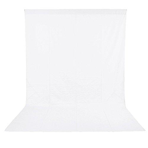 Ruili 6 x 9FT (1,8 x 2,8 M) Fotohintergrund Weiss Fotostudio Hintergrund Weiß 100% Reine Muslin Hintergrundstoff Backdrop Fotografie-Weiß