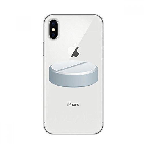 Health-care-telefon (DIYthinker White Pill Health Care Produkte Muster Apple iPhone X Telefon-Kasten Flexible TPU Soft Slim Transparent Abdeckung Geschenk)