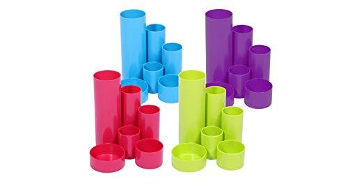 95 x 95 x 95 mm Portablocco in plastica verde lime 80 g//mq verde riempito con 700 fogli di carta bianca