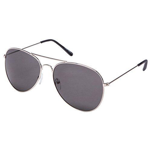 Ciffre EL-Sunprotect® Pilotenbrille Fliegerbrille Sonnenbrille Brille Top Design Silber Smoke
