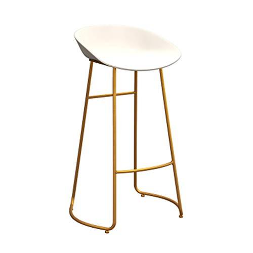 RTY-STOOL Barhocker Stuhl Fußstütze Hochhocker Esszimmerstühle als Hocker für die Küche | Kneipe Frühstückstisch | Weißer pp.-Sitz-Goldmetallbeine | maximale Belastung 150kg (größe : 65cm)