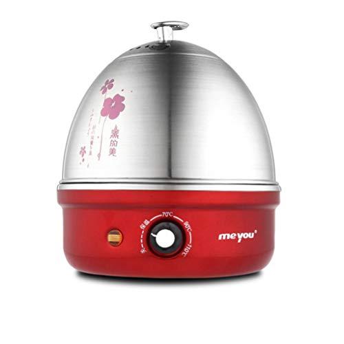 R&Y Eierkocher Elektrischer Eierkocher, automatische Abschaltung, Edelstahl 304, einlagiges gedämpftes Ei, Minikleines Haus,C