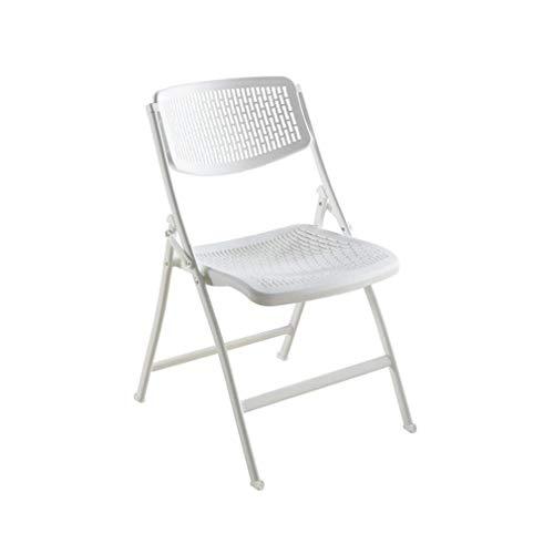 M-Home Verdickter Klappstuhl Kunststoff Tragbarer Stuhl Moderner Minimalistischer Bürostuhl Trainingsstuhl (Color : White) - Kunststoff-stuhl Moderner