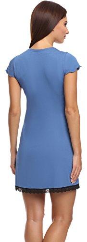 Merry Style Damen Nachthemd Z426 Hellindigo (641)