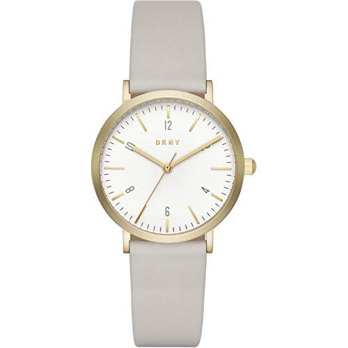 DKNY Damen Analog Quarz Uhr mit Leder Armband NY2507