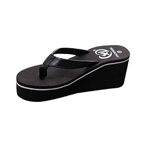 WWricotta Summer Sexy Flip Flops Women Sandals Bohemian Muffin Slope with Sandals ()