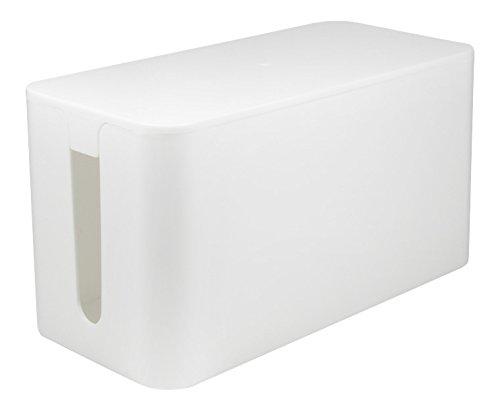 LogiLink Kabelbox, klein, weiß Kleine, Weiße Kabel