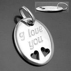 Stilvolle Anhänger, -I love you- Silber 925