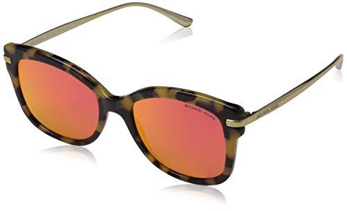Michael Kors Damen LIA 32446Q 53 Sonnenbrille, Dark Vintage Tortoise/Redmirror,