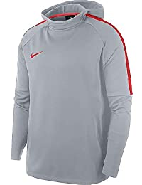 Nike M NK Dry ACDMY Hoodie PO Sudadera, Hombre, Gris (Wolf Grey Crimson