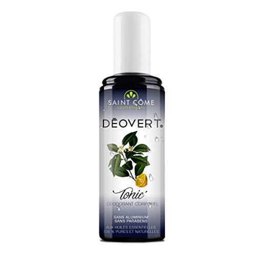 Aroma Spray - Deovert Tonic' - Déodorant Corporel - Aux Huiles Essentielles 100% Pures Et Naturelles - 100 Ml