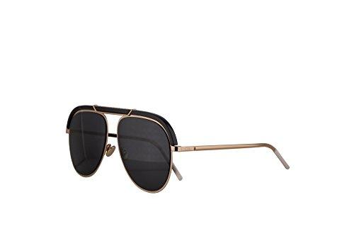 Dior Frau Christian DiorDesertic Sonnenbrille w/grau Objektiv 58mm 2M22K Desertic Schwarzes Gold groß
