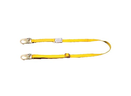 MSA Safety 10115801 Workman Zurückhaltung Lanyard, Kernmantel Seil, Alu-Karabiner, 2 m Länge verstellbar (Zurückhaltung Lanyard)