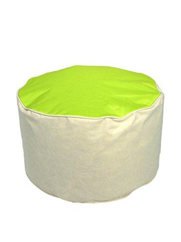 Kinzler S-10122/120 outdoorfähiger Sitzhocker rund, ca. Ø53 x H32 cm, 2-farbig, apfelgrün