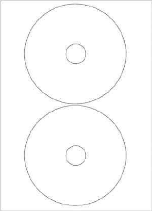 20 CD/DVD Labels-Etiketten High Glossy (hochglänzende Oberfläche in Fotopapierqualität);10 Blatt mit je 2 Labels/Etiketten weiß (Getto D'inchiostro Bianco Cd Dvd Etichette)