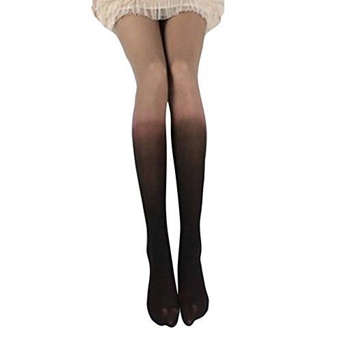 Quaan Frau Herbst Winter Jahrgang Schrittweise Gradient Veränderung Strumpfhose Strümpfe Frau Mädchen Strumpfhose Mode warm Socken gemütlich Socken Hautfarbe schwarz Schlank Netzwerk Hose