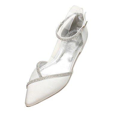 Wuyulunbi@ Scarpe donna raso Primavera Estate & in due pezzi Comfort scarpe matrimonio Punta strass per la festa di nozze e la sera. Un