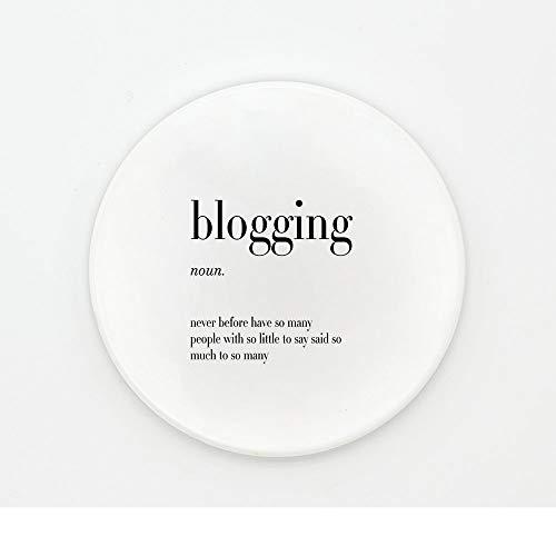 ZCHPDD Untersetzer Untersetzer Keramik Antirutsch Wasserdichter Untersetzer Büro Dekoration Blogging 10,2 * 0,6 cm * 2 Stücke