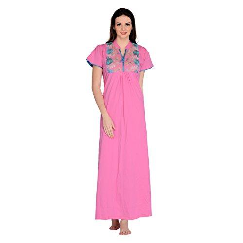 Farry Women Sleepwear Comfortable Sleek Stylish Womens Nighties Breathable Everyday Use Night Dress Cotton Jersey (Hosiery) Experience Great Style (XX-Large)
