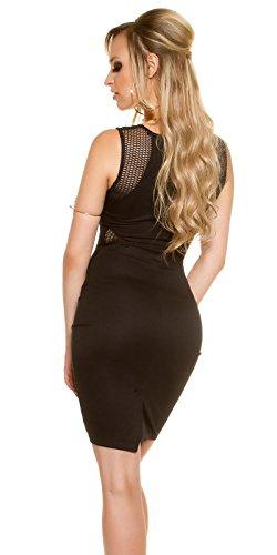 In-Stylefashion - Robe - Crayon - Femme noir noir L Noir