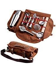 Bar-tool (Finneshoky Cocktail-Werkzeug-Set, tragbare Tragetasche, 14-teilig, komplett gepolstert, leicht zu transportieren)