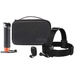 GoPro Aktes-001Compact Coque Officielle-Adventure Kit avec Accessoires, Noir