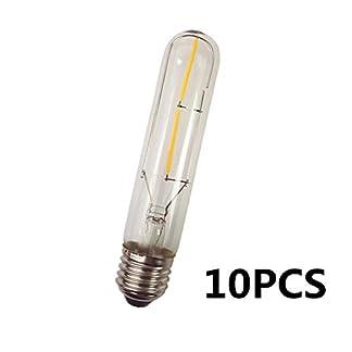 E27 Sospensione Gabbia Lampadario Metallo/Chrasy 10Pezzi Retro E27 Lampadina LED