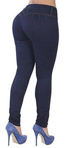 ... EMIN Damen Jeans Hose Strench röhre Bleistifthose Fitness Bleistifthose  Stretch Hose Denim Dünn Bleistift Hose Dunkelblau