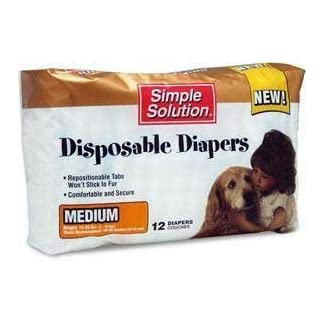 Simple Solution Disposable Diapers 12pk Medium Simple Solution Disposable Diapers 12pk Medium 31Db4sQreZL